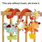 Baby Stroller Bed Crib Toy Bell Hanging Pendant Plush Stuffed Animal Rattle Doll