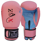 Leather Boxing Gloves Punch Bag Training Sparring Gloves Ladies / Girls PINK