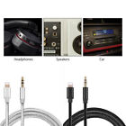 Lightning to 3.5mm Jack Male to Male Audio AUX Lead Nylon Cable for iPhone10.3