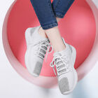 Girls Womens Suede Casual Lace Creeper Court Sneaker Shoes Flats l