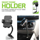 Universal Car DC Port Adjustable Phone Holder Mount w/ 2.1 Amp USB Charging Port