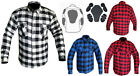 Motorcycle Cotton Flannel Lumberjack DuPont™ KEVLAR® Shirt with CE armour Grey