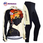 US Warehouse Women Cycling Jersey Set Long Sleeve Pants Girls Biking Clothing