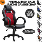 Gaming Office Chair - desk working racing design swivel recliner high back tilt