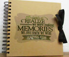 Scrapbook Making Memories Photo Album guest book 8x8 Card Pages Gold-Silver Foil