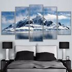 Icy Snow Capped Mountain Painting Poster Print Modern Canvas Wall Art Home Decor