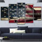 American Flag Hand Paintings Poster Abstract Modern Canvas Wall Art Home Decor