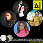 Zendaya SET OF 4 BUTTONS or MAGNETS or MIRRORS pinback shake it up coleman #1371