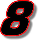 Black 3 inch race numbers with Red border number sticker /vinyl/graphic