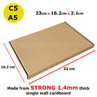 C5 A5  BOX LARGE LETTER STRONG CARDBOARD SHIPPING MAILING POSTAL PIP 9