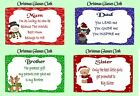 PERSONALISED CHRISTMAS SENTIMENT GLASSES CLEANING CLOTH  XMAS GIFT SECRET SANTA