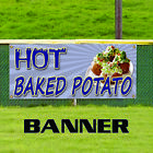 Hot Baked Potato Idaho Fresh Bacon Cheese Advertising Vinyl Banner Sign