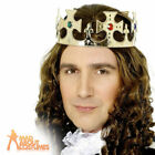 Adult Kings Crown Jewelled Assorted Silver And Gold Fancy Dress Accessory New