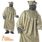 Adult Wolf Granny Costume Red Riding Hood Nursery Rhyme Fancy Dress Outfit New