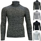 Men's Knitted Casual Jumper Sweat top Roll Turtle neck Pullover Long sleeves