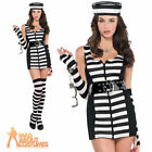 Adult Sexy Convict Costume Guilty as Charged Female Ladies Prisoner Fancy Dress