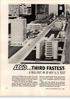1962 PAPER AD 2 PG Samsonite Lego CCity Toy Plastic Blocks Buildings RARE