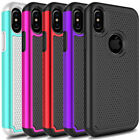 Outer Box Shockproof Hybrid Rubber Armor Hard Phone Case Cover For iPhone X