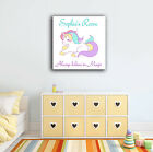 PERSONALISED UNICORN CANVAS. MANY OTHER GIRLS BOYS DESIGNS BEDROOM PLAYROOM ART