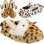 Kids Girls New Slip On Fur Lined Rabbit Animal Warm Winter Mules Slippers Shoes