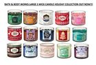 Bath and body works Large 3 wick Scented Candles Many Options Free World Ship