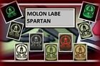 Ready to patch 3D Rubberpatch Molon Labe Spartan in 7 Farben m. Klett