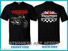 Triumph Motorcycle Bonneville T100 Steve McQueen Edition MENS BLACK T-SHIRT $15.0 USD