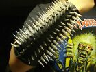 LEATHER SPIKED CONE GAUNTLET. BLACK METAL... (MDLG0231)..... BEHEXEN