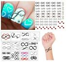 Infinity Collection  Temporary Tattoos Tattoo  -  Nail Art