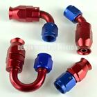 10AN -10 PTFE Teflon Braided Hose Fitting, Oil Water etc (Pick Angle) Red / Blue
