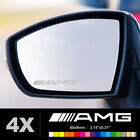 MERCEDEQ AMG Wing Mirror Glass Silver Frosted Etched Car Vinyl Decal Stickers