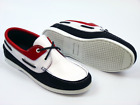 SALE! NEW! REESE PAOLO VANDINI RETRO DECK SHOE LOAFERS NAVY/RED/WHITE RACK 46B