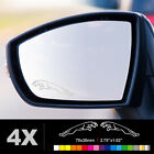 JAGUAR Wing Mirror Glass Silver Frosted Etched Car Vinyl Decal Stickers