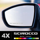 VW VOLKSWAGEN SCIROCCO Wing Mirror Glass Silver Frosted Etched Car Decal Sticker