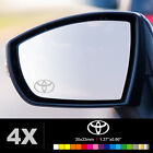 TOYOTA SYMBOL Wing Mirror Glass Silver Frosted Etched Car Vinyl Decal Stickers