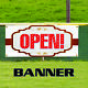 Open Banner Sign Apartment House Commercial Rent Business Advertising photo