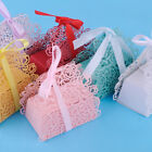 12pcs Rose Laser Cut Cake Candy Gift Boxes With Ribbon Wedding Favor Baby Shower