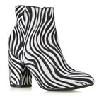 Womens Ankle Boots Block Mid High Cuban Heel Ladies Casual Smart Party Shoes 3-8