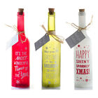 Christmas Sparkly Shiny Merry Bright Wonderful Time Starlight Light Up Bottle