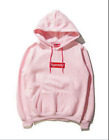 Hot New Mens SUPREME Hip Hop Hoodie Embroidered Cotton Sweater Men's Hoodies