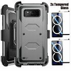 For Samsung Galaxy Note 8 Shockproof Hybrid Phone Case With Kickstand Clip Cover