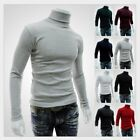 Men's Thermal High Collar Turtleneck Skivvy Long Sleeve Sweater Stretch Shirts