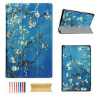 For Amazon Kindle Fire HD 10 Tablet 2017 Smart Pattern Leather Case Stand Cover