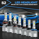 2x LED H4 H7 H11 H13 9005 9006 9007 CREE Headlight Car Bulb Conversion Kit 6500K