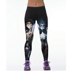 NEW 2017 High Quality Gothic Leggings Casual Fitness Girls 3D Sexy Yoga Pants Bl
