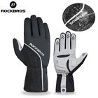 ROCKBROS Cycling Gloves Windproof Thermal Anti-slip Pad Full Finger Warm Gloves