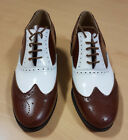SALE! BROWN AND WHITE LACE UP LEATHER BROGUES WORN ONCE MEZZ