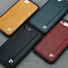 Pierre Cardin Vintage Genuine Leather Cover Back For Apple iPhone 7 Phone Case