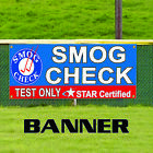 Smog Check Test Only Star Certified Fog Cloud Shadow Banner Sign