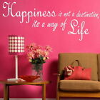 Happiness - Inspirational Wall Quote Vinyl Art Motivational Quotes DAQ17